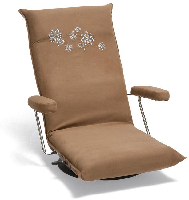【14段階リクライニング】【回転式】【3色】5206 座椅子