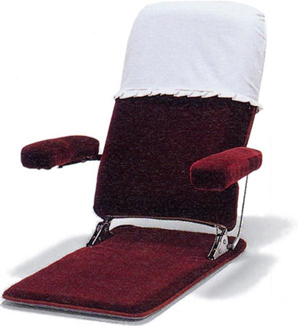 【3段階リクライニング】【肘可動】2030(カバー付)座椅子