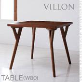 北欧モダンデザインダイニング ヴィヨン テーブル(W80)