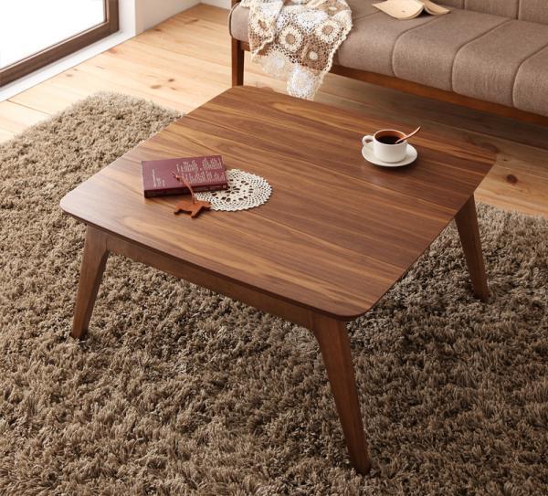 天然木ウォールナット材 北欧デザインこたつテーブル new! 【Lumikki】ルミッキ