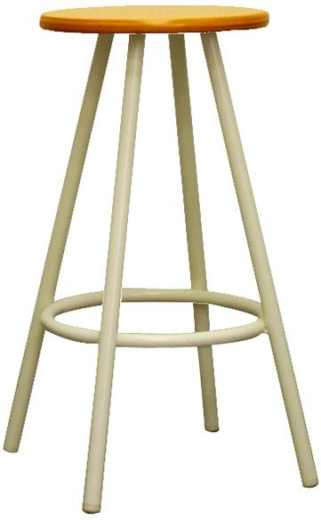 【座面にブナ合板を使用し、ナチュラルに】ポルッカ ウッドスツール