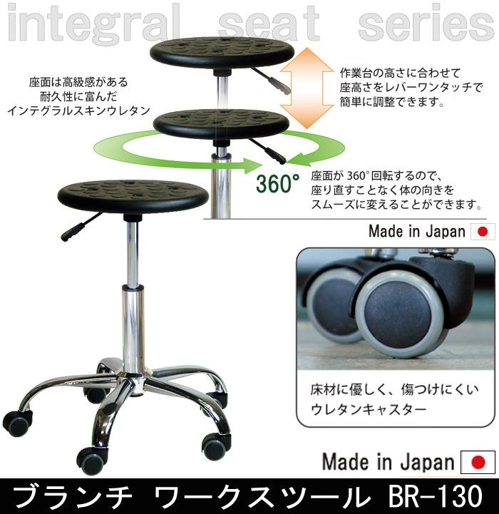 【耐荷重80kg】ブランチ ワークスツール 130BR-130
