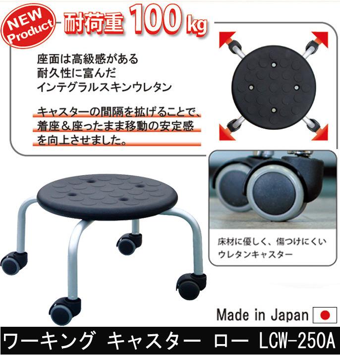 【耐荷重100kg】ワーキング キャスター ロー LCW-250A