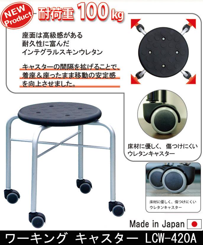 【耐荷重100kg】ワーキング キャスター LCW-420A