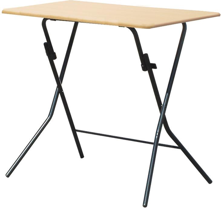 【傷へこみに強いPVC天板】【省スペース、折畳んで自立する!】スタンドタッチテーブル KSD-75