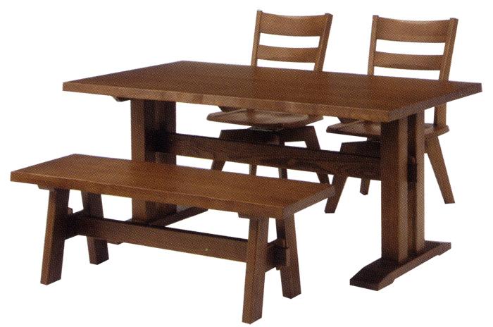 【2本脚タイプ】【タモ無垢材使用】フォレスト ダイニングテーブル