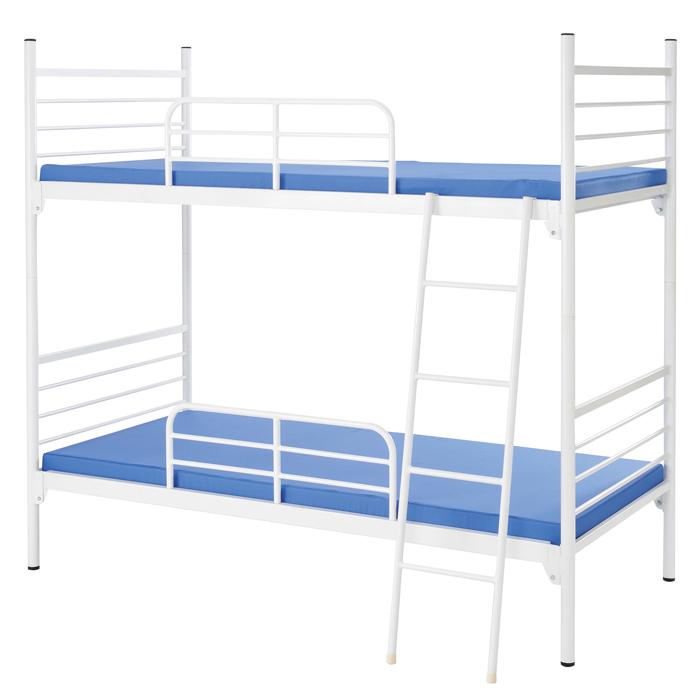 【業務用2段ベッド】スチールフレーム2段ベッド IBS-212【※マット別売】