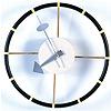 【クラシックカーを思わせるデザイン】ジョージ・ネルソン ステアリングホイールクロック 掛け時計 CW
