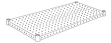 H2460PS1(1枚入) パンチングシェルフ シルバー W1500mm×D600mm