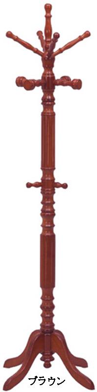 【木製のアンティーク調コートハンガー】イタリアンコートハンガー