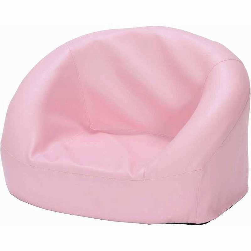 【ウレタンフォームの素材のため、お子様にも安心してご使用できます】キッズソファ リルム ピンク