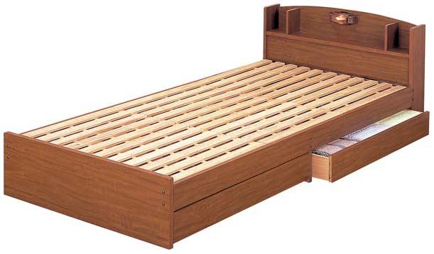 【床はスノコ仕上げですので、風通しがよく気持ち良く使用できます】ECOロングベッド