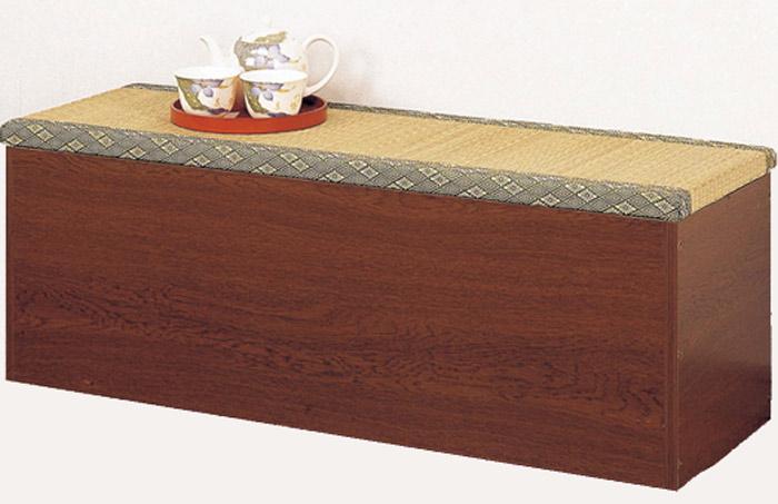 【内部は長尺物の収納庫として使用できます】収納たたみベンチ