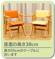 木製折畳み肘付き椅子