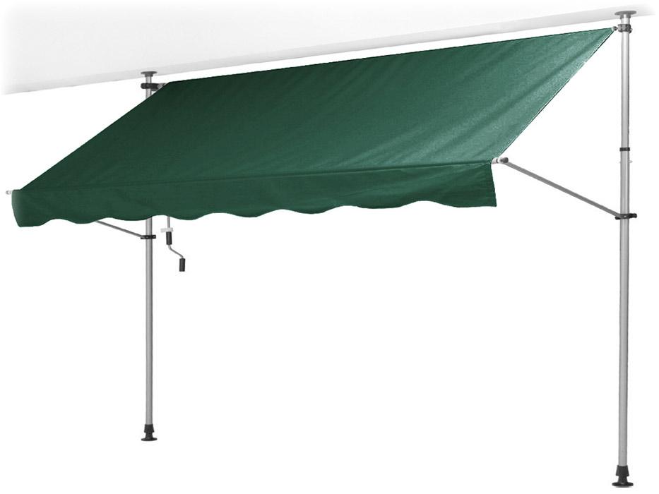 【支柱を天井と床に突っ張るだけの簡単設置!使用時以外はコンパクトに収納】オーニング 1.9×0.9M