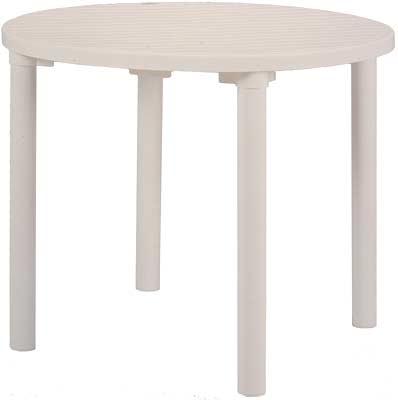 【売れ筋のプラスチック製ガーデンテーブル】カフェテーブル 900丸