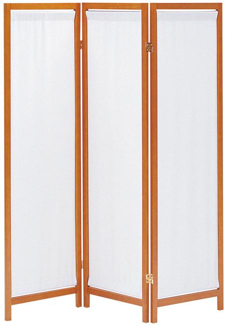 【帆布は取り外し可能】木製スクリーン(帆布)3連 HT-3(BR)
