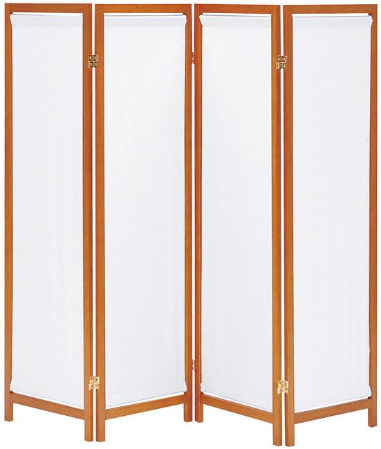 【帆布は取り外し可能】木製スクリーン(帆布)4連 HT-4(BR)