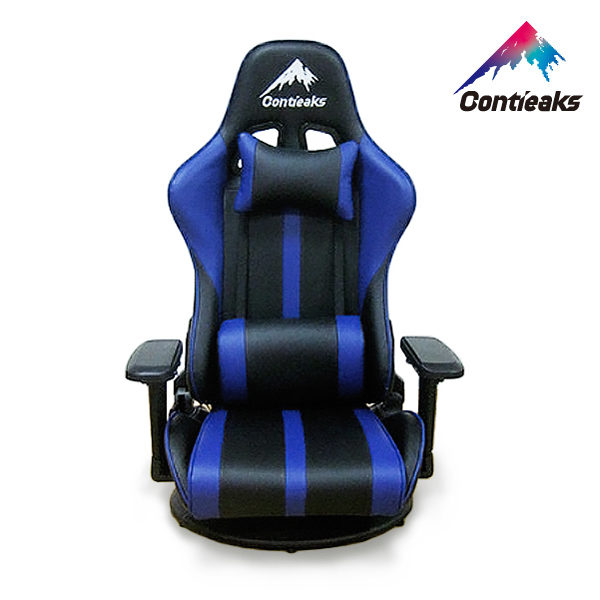 Contieaks コンティークス ゲーミングチェア Roussel ルセル・座椅子 ブルー 4Dアーム