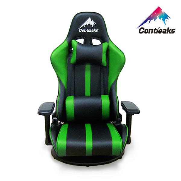 Contieaks コンティークス ゲーミングチェア Roussel ルセル・座椅子 グリーン 4Dアーム