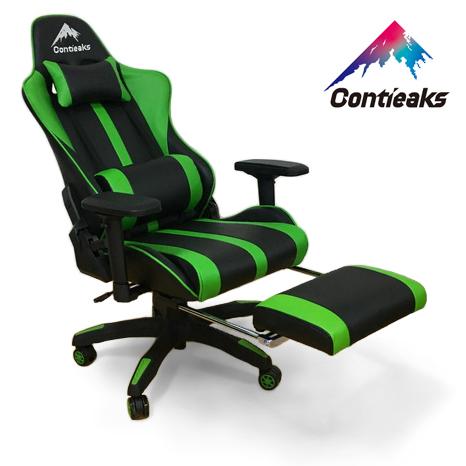 Contieaks コンティークス ゲーミングチェア Roussel ルセル・オットマン グリーン 4Dアーム