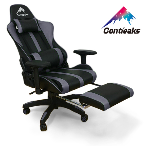 Contieaks コンティークス ゲーミングチェア Roussel ルセル・オットマン グレー 4Dアーム