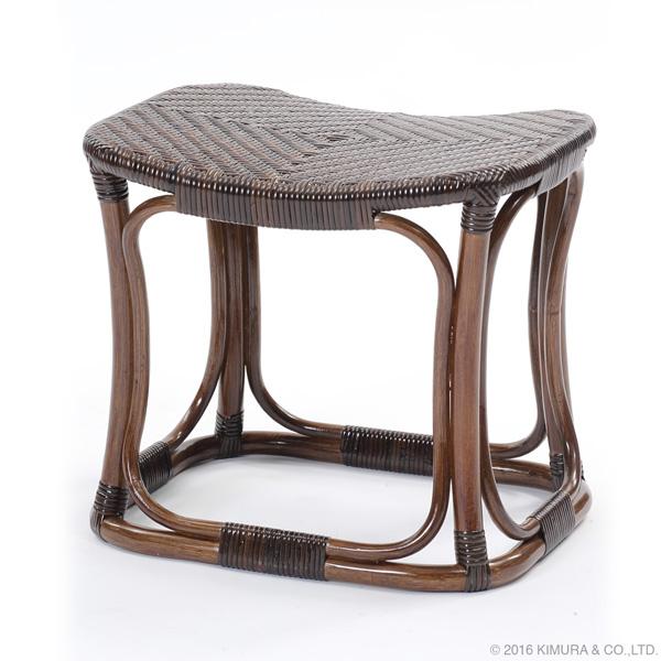 【Handmade シリーズ コンパクトで座り心地が良いラタンスツール】ラタン手編み スツール C427KA