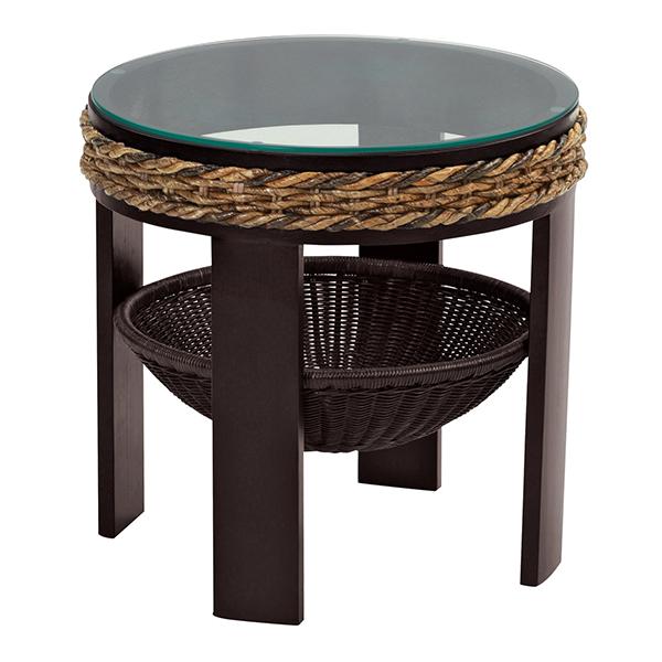 アジアン家具 バナナリーフ ガラスサイドテーブル T145AT