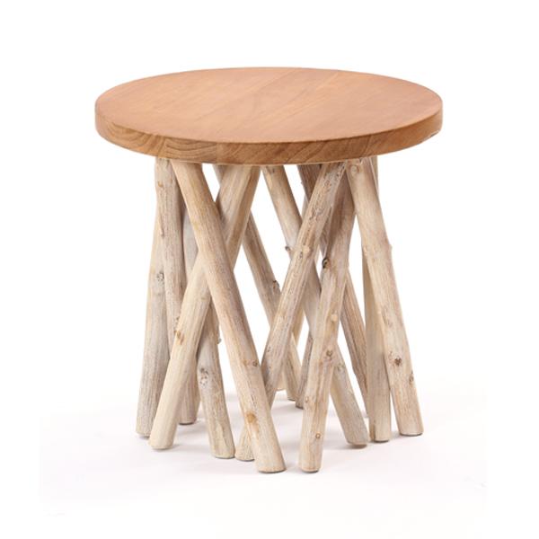 【@CBi(アクビィ)】木製 サイドテーブル AZT004