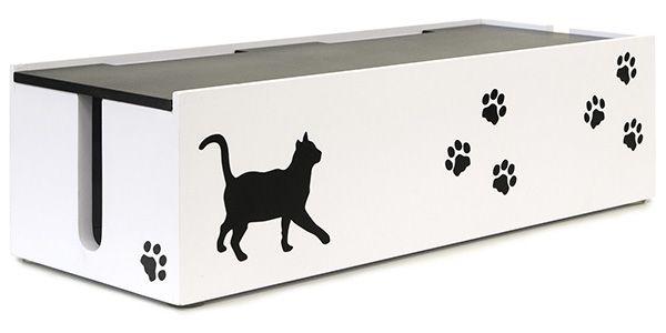猫のケーブルBOX 大 CTB-152C