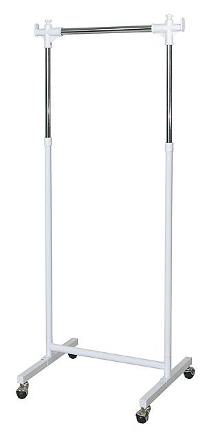【幅60cmタイプ】【頑丈で収納力たっぷり、ワンプッシュでラクラク高さ調節可能】頑丈ハンガーW60 (HSG-430S)
