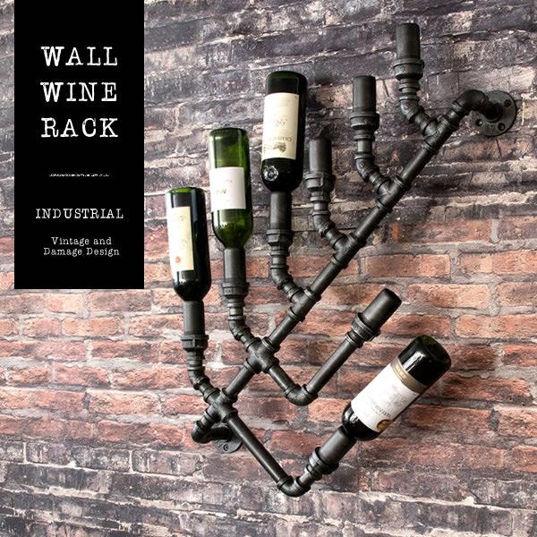 ウォールワインラック  INDUSTRIAL インダストリアル RK-A820