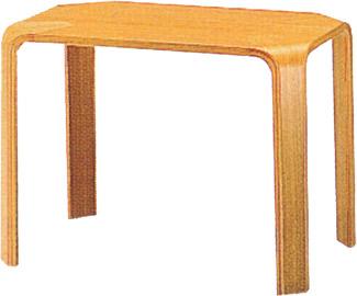 【角に丸みを持たせた甲板と脚のシンプルな形状が特徴】テーブル T-2078NA-ST