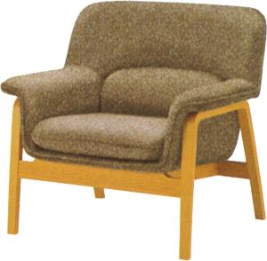 【包み込まれるような、 やさしい座り心地が特徴】チェントロ イージーチェア T-5451NA-ST