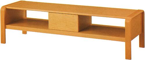 【成形合板にこだわった、 やさしい曲線がデザインのポイント】ローボード T-4108IT-NT
