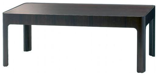 【ローズウッドの美しい木目、深みのある色調が高級感あふれる】ハコ テーブル S-6002RW-ST