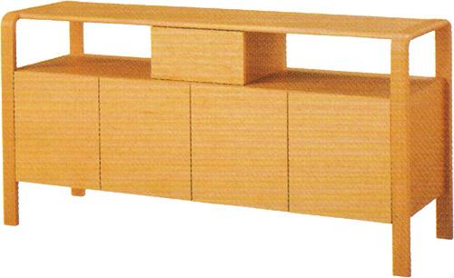 【成形合板にこだわった、 やさしい曲線がデザインのポイント】サイドボード T-4109IT-NT
