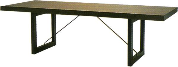 【ダークカラーのシックで落ち着いた印象のダイニング】パドック テーブル T-2399NA-DG