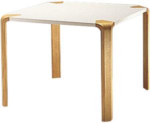 【白い甲板と木目脚の2トーン、シンプルな形状が特徴】アントラー テーブル T-2068ME-NT