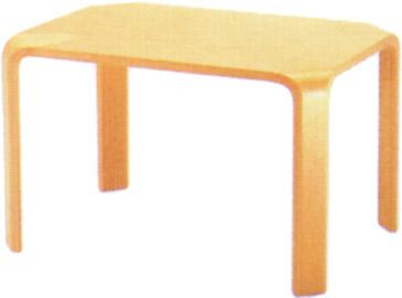 【天童木工の代名詞ともいえる成形合板が特徴】テーブル T-2078WB-NT
