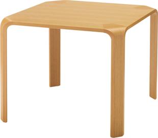 【角に丸みを持たせた甲板と脚のシンプルな形状が特徴】テーブル T-2687NA-ST