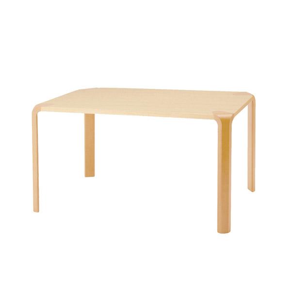 【甲板と木目脚の2トーン、シンプルな形状が特徴】アントラー テーブル T-2310WB-NT