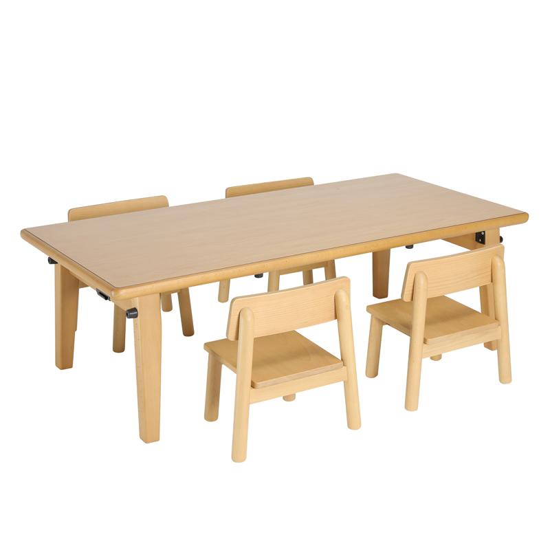 大和屋 フレジー キッズテーブル5点セット F380+F175×4脚 保育園 幼稚園