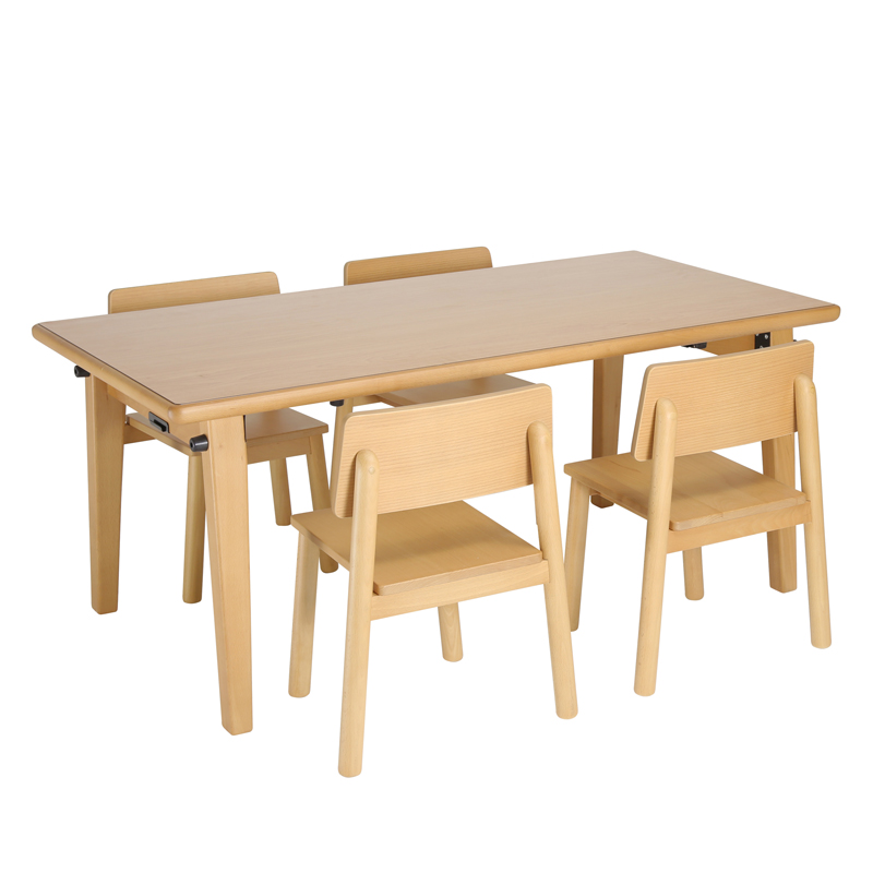 大和屋 フレジー キッズテーブル5点セット F500+F270×4脚 保育園 幼稚園